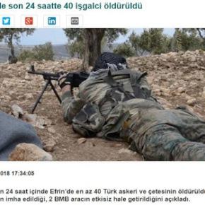 Κούρδοι στη μάχη στο Αφρίν: 40 εισβολείς σκοτώθηκαν τις τελευταίες 24ώρες