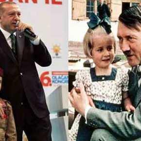"""Μια σημαία """"έταξε"""" ο Ερντογάν σ΄ ένα μικρό κορίτσι """"αν γίνειμάρτυρας""""!"""