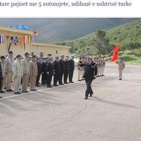 Σάββατο, 10 Φεβρουαρίου 2018Ο αλβανικός στρατός παραλαμβάνει δώρα από τηνΤουρκία
