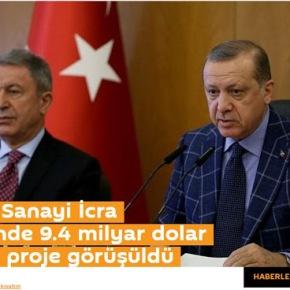 Η τουρκική αμυντική βιομηχανία θα υλοποιήσει 55 έργα αξίας 9,4 διςδολαρίων