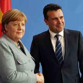 Εξευτελισμός της Ελλάδας από την Μέρκελ: «Kαλωσορίζω τον Μακεδόνα πρωθυπουργό» είπε στον Σκοπιανό! (φωτό,βίντεο)