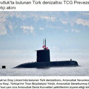 Τουρκικό υποβρύχιο στο Δυρράχιο, αλβανικό πολεμικό στηΣμύρνη