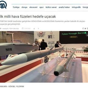 Η Τουρκία δοκίμασε βαλλιστικούς πυραύλους δικής τηςκατασκευής