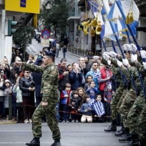 Ολοκληρώθηκε η στρατιωτική παρέλαση στηνΑθήνα