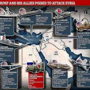 Σε πλήρη επιθετική διάταξη οι δυνάμεις ΗΠΑ-Βρετανίας-Γαλλίας – Η γεωγραφική εμπλοκή τηςΚύπρου