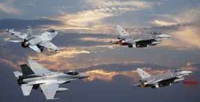 10 τουρκικά F-16 απογειώθηκαν αλλά… βρήκανε μπροστά τους Κουζουλούς τηςΚρήτης!