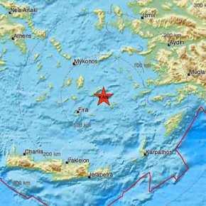 Ισχυρός σεισμός 4,7 Ρίχτερ σταΔωδεκάνησα