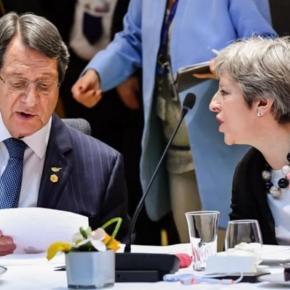 Μέι προς Αναστασιάδη: Το κυπριακό έδαφος δεν διατρέχεικίνδυνο