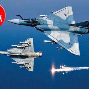 Με δύο εμπλοκές εξελίχθηκε η αναχαίτιση τουρκικών αεροσκαφών στοΑιγαίο