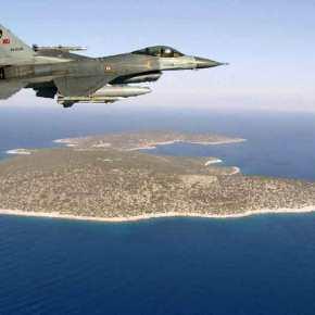 Τουρκικό F-16 πέταξε πάνω από το Φαρμακονήσι – Η Τουρκία σπάει τα «κοντέρ» τηςπροκλητικότητας