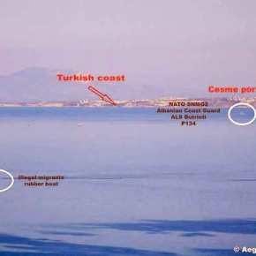 Η υποκρισία Τούρκων, ΝΑΤΟ και Αλβανών (!) με το προσφυγικό στο Αιγαίο σε μίαφωτογραφία