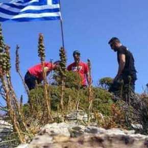 Διαψεύδει την υποστολή ελληνικής σημαίας από τούρκους κομάντος ηκυβέρνηση