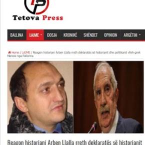 Αλβανοτσάμης ιστορικός χτυπά πάλι κατάΕλλήνων