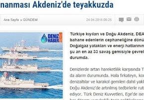 «Το τουρκικό ναυτικό είναι σε εγρήγορση στηΜεσόγειο»