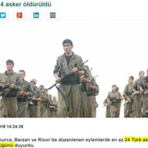 Κούρδοι αντάρτες: Σκοτώσαμε τουλάχιστον 24 Τούρκουςστρατιώτες