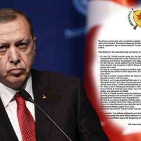 """Το """"κηδειόχαρτο"""" που στέλνουν οι Κούρδοι στον Ερντογάν! Βαρύτατες απώλειες στηΣυρία"""