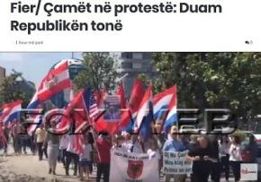Αλβανία: Διαμαρτυρία τσάμηδων στην πόλη Φίερ. Τιζητούν