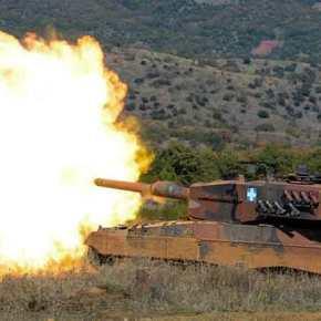 Για πρώτη φορά στην ιστορία μας Leopard 2HEL εναντίον Leopard 2A4 και Leopard 1A5 με το ατσάλι να ακούγεται μέχριΤουρκία!