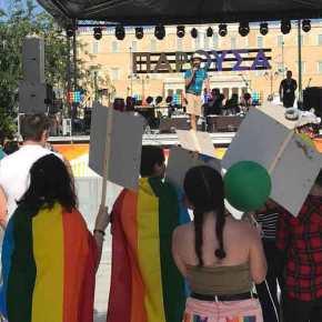 Εύζωνες, Άγνωστος Στρατιώτης και Βουλή υποκλίνονται στην «ομοφυλοφιλική υπερηφάνεια» -Εβαψαν και τις οδικέςδιαβάσεις!