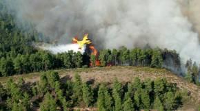 Μεγάλη φωτιά στην Πύλο: Επί τόπου 25 πυροσβέστες, 4 αεροσκάφη και 1ελικόπτερο