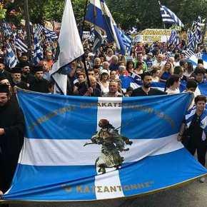 «Βούλιαξαν» οι πλατείες – Δεκάδες Ελληνες βροντοφώναξαν: «Κάτω τα χέρια από τηΜακεδονία»