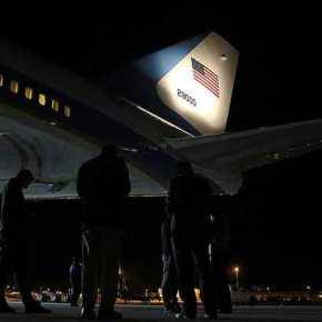 Στη Σούδα για περίπου 2 ώρες το Air Force One(VIDEO)