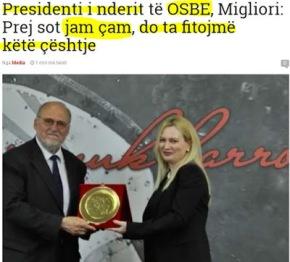 Επίτιμος πρόεδρος ΟΑΣΕ: Θα υποστηρίξω το ζήτημα τωνΑλβανοτσάμηδων