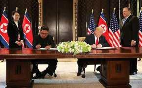«Εγγυήσεις ασφαλείας» και «πλήρης αποπυρηνικοποίηση» οι δεσμεύσεις της συμφωνίας Τραμπ –Κιμ