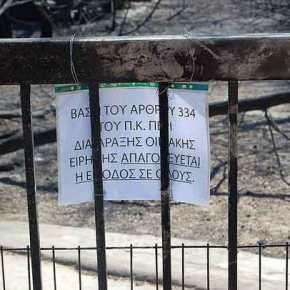 Έκλεισαν την είσοδο εκεί που βρέθηκαν απανθρακωμένοι 28 πολίτες – Σκαρφάλωσαν οιπυροσβέστες