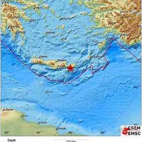 Ισχυρή σεισμική δόνηση στηνΚρήτη