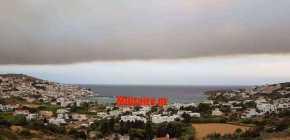 """Το Αιγαίο """"σκεπάστηκε"""" από τον καπνό των πυρκαγιών της Αττικής!Φωτογραφία"""