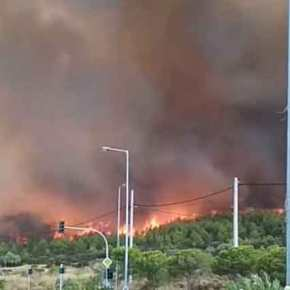 «100 σπίτια έχουν καεί στο Μάτι και τουλάχιστον 200 οχήματα» δηλώνει ο δήμαρχος της περιοχής. Σωτηρία μέσω θαλάσσης αναζητούν οικάτοικοι.