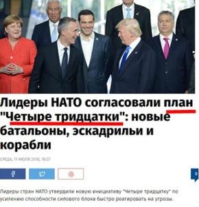 Οι ηγέτες του ΝΑΤΟ συμφώνησαν σε ένα σχέδιο των «τεσσάρωντριάντα»