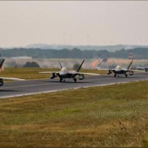 Λάρισα: Τα F-22 Raptor της USAFE – AFAFRICA στην 110 ΠτέρυγαΜάχης