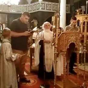 Ρίγη συγκίνησης: Δημήτρης Κούκλατζης και Άγγελος Μητρετώδης ψέλνουν τη Υπερμάχω(βίντεο)