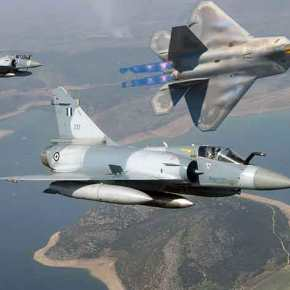 «Έγραψαν» ιστορία οι Έλληνες πιλότοι στο Albacete: Ελληνικά Mirage αναχαίτισαν F-22Raptor