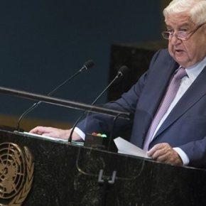 Η Συρία δηλώνει έτοιμη να δεχτεί επιστροφές προσφύγων  .Από το βήμα της Γενικής Συνέλευσης των Ηνωμένων Εθνών η Δαμασκός απαίτησε επίσης την απόσυρση των δυνάμεων των ΗΠΑ, της Τουρκίας και της Γαλλίας από τα εδάφη της.