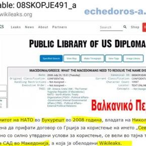 Σκόπια- με αφορμή την αποκάλυψη των Wikileaks: Τι δεχόταν η 'Μακεδονία' το2008;