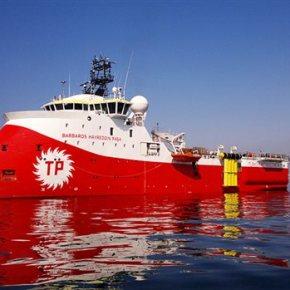 Η Τουρκία επιδεικνύει το Barbaros και τη συνοδεία του που πλέουν ανοιχτά τηςΚύπρου