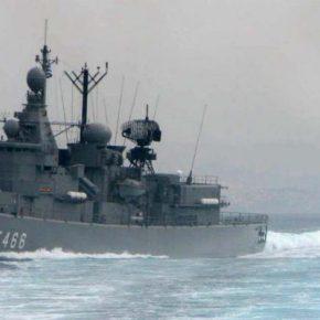 """Η φρεγάτα TCG Giresun (F-491) συνοδεία στο """"Barbaros"""", έτοιμη δεύτερη ελληνική για τηνπεριοχή"""