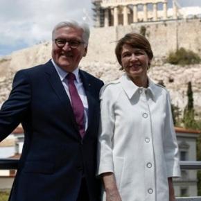 Στην Αθήνα ο Γερμανός πρόεδρος Φρανκ Βάλτερ Σταϊνμάιερ και η σύζυγόςτου