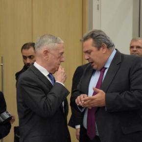 NATO: Νέο τετ-α-τετ του Πάνου Καμμένου και του ΤζέιμςΜάτις
