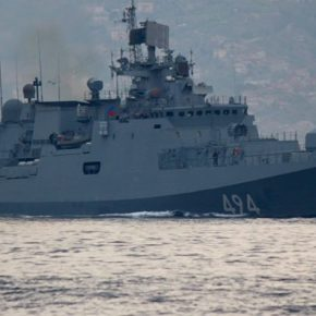 """Στη Μεσόγειο στέλνει η Ρωσία τη φρεγάτα """"Ναύαρχος Μακάροφ"""" με κρουζ πυραύλους""""Kalibr"""""""