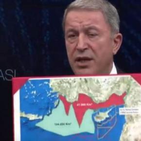Νέα πρόκληση Ακάρ: Έδειξε στη Λιβύη χάρτες της «Κατεχόμενης Μεσογείου» από τηνΕλλάδα