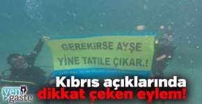 «Η ΑΪσέ θα πάει ξανά διακοπές»… Τούρκοι φασίστες σήκωσαν πανό στο βυθό της Κερύνειας με τα λόγιατης;Λύκαινας!