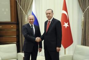 Σε εξέλιξη η συνάντηση Πούτιν – Ερντογάν για τον αγωγό TurkStream.