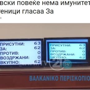 Σκόπια: Ο φυγόποινος Γκρούεφσκι έχασε τη βουλευτική ασυλία του.