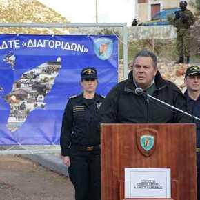 Π. Καμμένος: Προανήγγειλε κήρυξη ΑΟΖ στο Ανατολικό Αιγαίο τους επόμενουςμήνες