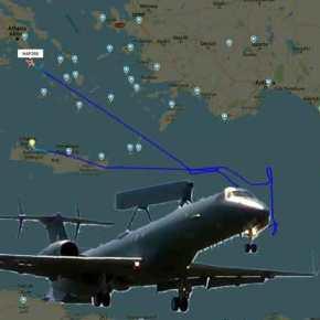 Πτήση στοχοποίησης του τουρκικού στολίσκου που συνοδεύει το Barbaros από αεροσκάφος-ραντάρ EMB-145H τηςΠΑ