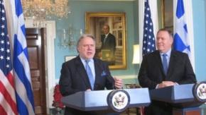 Πομπέο: «Ιστορική πρόοδος στις ελληνοαμερικανικές σχέσεις»